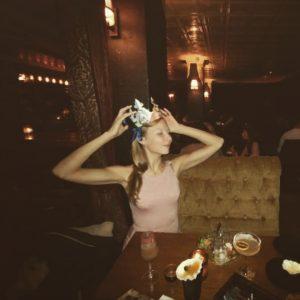 girl celebrating in tel aviv